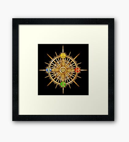 XBOX Gamer's Compass - Adventurer Framed Print