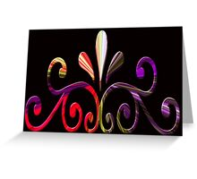 Beautiful, colorful computer generated pattern design. Greeting Card