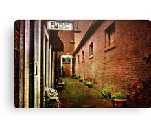 Behind the Theater  Canvas Print