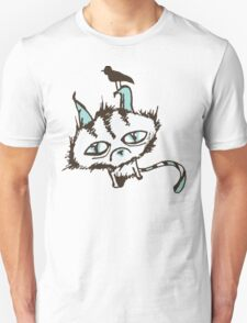 Teal Sky Kitty Unisex T-Shirt