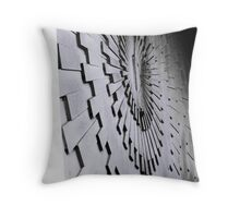 Abstract seawall Throw Pillow