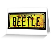 Volkswagen Beetle Number Plate © Greeting Card