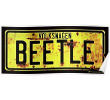 Volkswagen Beetle Number Plate Poster