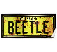 Volkswagen Beetle Number Plate © Poster