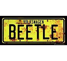 Volkswagen Beetle Number Plate Photographic Print