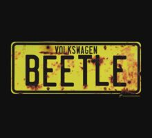 Volkswagen Beetle Number Plate © by BlulimeMerch