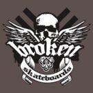 Winged Skull by BrokenSk8boards