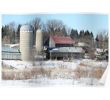 Abandoned Farmstead in Minnesota Poster