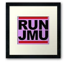 RUN JMU Framed Print
