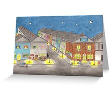 Nightlife In Hare Town Greeting Card