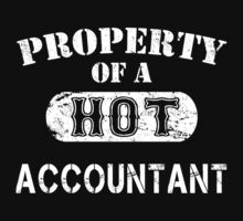 Property Of A Hot Accountant - Unisex Tshirt by crazyshirts2015