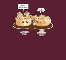 Cute Pun: Morning Bun and Not a Morning Bun Womens Fitted T-Shirt