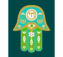 Hamsa for blessings, power and strength  Photographic Print