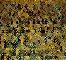 Abstract Golden Blocks Mosaic by Gilda Axelrod