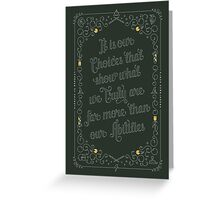 Harry Potter Quote Greeting Card