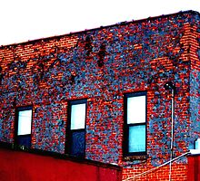 Red, White and Blue Building by Gilda Axelrod