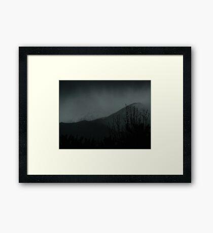 saturday showers Framed Print