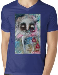 Abstract Portrait  Mens V-Neck T-Shirt