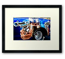 Guns Ablazing! Framed Print