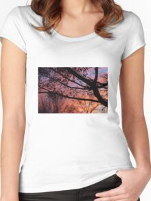Sunset in the Maple Tree Women's Fitted Scoop T-Shirt