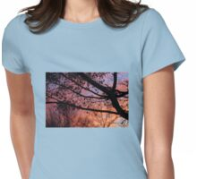 Sunset in the Maple Tree Womens Fitted T-Shirt