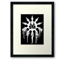 Die Antwoord Ninja Star (White Version) Framed Print