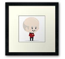 Chibi Jean Luc Picard Framed Print
