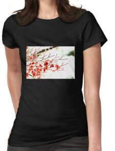 Snowy Maple Abstract Womens Fitted T-Shirt