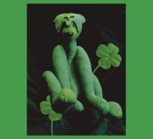 Green Bear with Shamrocks by Kayleigh Walmsley