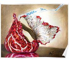 Hug Unfurled (Candy kiss and hug) Poster