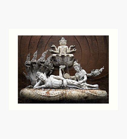 Thai Sculptures Art Print