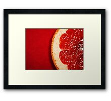 Red Grapefruit Framed Print