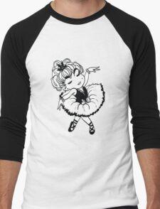 Cute Little Ballerina Men's Baseball ¾ T-Shirt