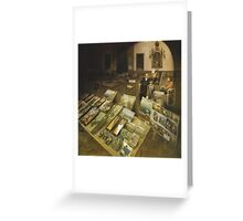 The seller of paintings of The Museum Plaza Greeting Card