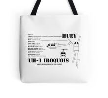 """Iroquois """"Huey"""" Helicopter Tote Bag"""