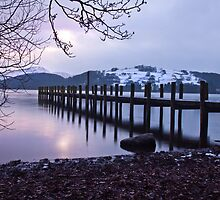 Dusk over Coniston water by Shaun Whiteman
