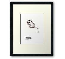 Haiku Eeyore Framed Print