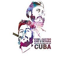 Fiedel Castro and Che Guevara Artwork Photographic Print