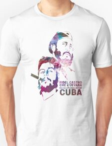 Fiedel Castro and Che Guevara Artwork T-Shirt