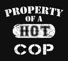 Property Of A Hot Cop - Unisex Tshirt by crazyshirts2015
