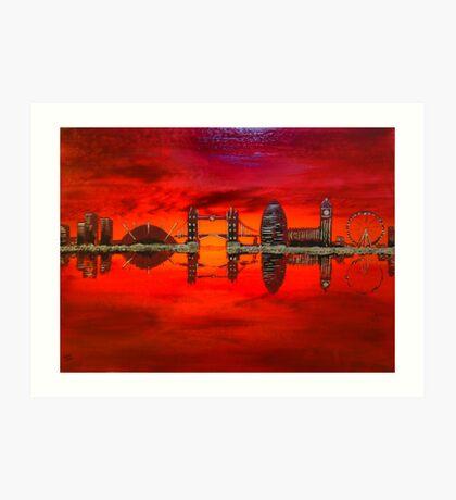 Thameside Red Art Print