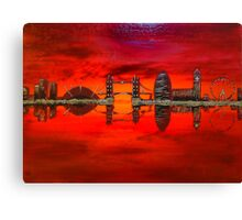 Thameside Red Canvas Print