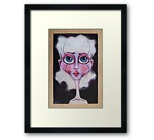 Miss Mauve Framed Print
