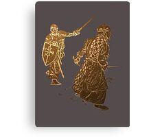 Be like a noble knight: wear a t-shirt Canvas Print