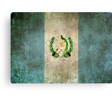 Old and Worn Distressed Vintage Flag of Guatemala Canvas Print