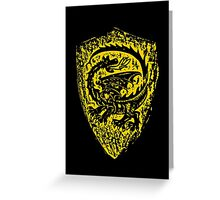 Shield up! Fear not, Medieval dragon shield t-shirt.  Greeting Card