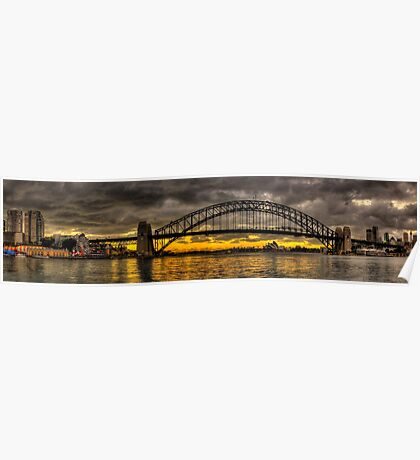 Sydney Harbour Panoramic - The HDR Experience Poster