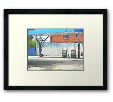 urban blue Framed Print