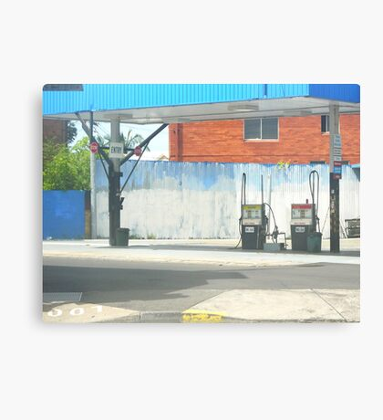 urban blue Canvas Print