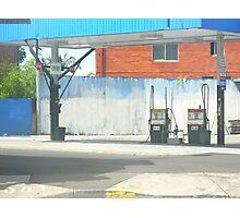 urban blue Photographic Print